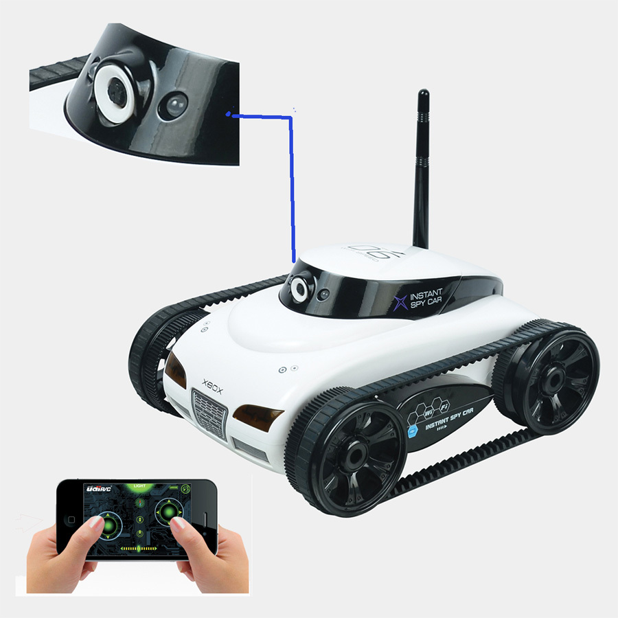 F04110 Wifi 4CH Instant RC Tank Car controlled by iPhone mobile phone w/ Live Video Camera Function +Freeship(China (Mainland))