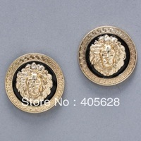Hot! Fashion enamel lion head stud earrings, gold color