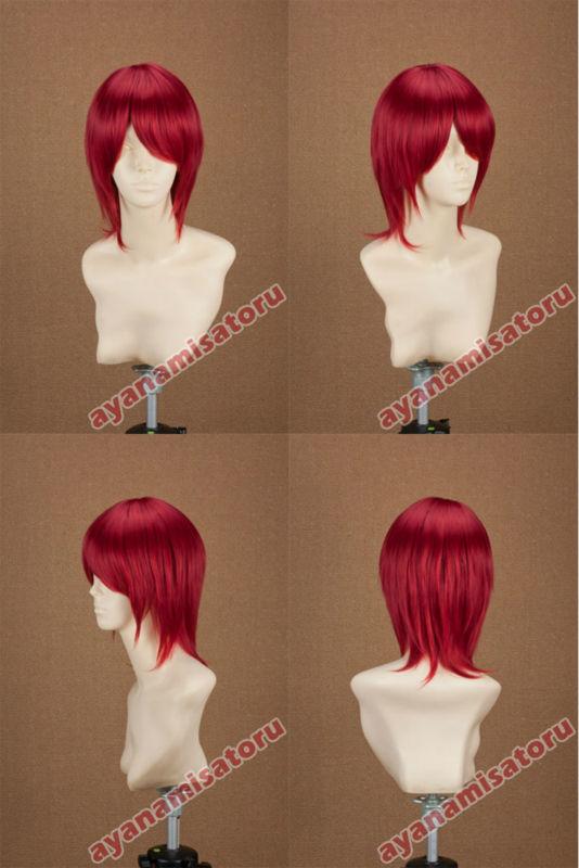 Super base wig prince mix red cosplay wig vocaloid akaito(China (Mainland))