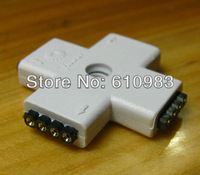 Free shipping (5pieces\lot) 4 PIn 4 Port Female to Female Extension Adapter Socket Connector For LED Strip & RGB