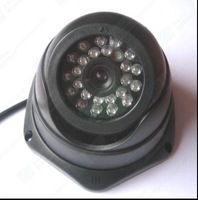 Free Shipping Black SHARP CCD COLOR IR DOME SECURITY Indoor CAMERA S93