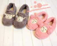 Free Shipping Shaggier alpaca package with cotton-padded slippers indoor cotton-padded slippers furniture shoeshome shoes