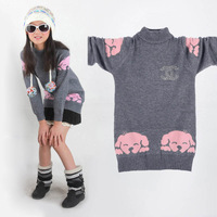 NEW Fashion Children's sweater,Sweet Girl's knitted pullover child cashmere sweater Free shipping BSD079