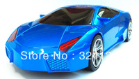 Free shipping 3pcs  Portable cool mini Lamborghini Car Model Music Speaker Support FM Digital Mp3 TF USB Music car Player