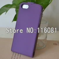 New Matte Surface High Quality Flip Leather Case Cover For iPhone 5 5G Free shipping 10pcs/lot