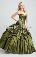 Q88115 Free Shipping Ball Gown beading draped taffeta for christmas Whloesale Custom Made Quinceanera Dresses sweet sixteen
