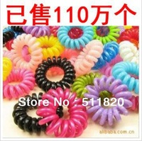 free shipping women's candy color telephone rope small size headbands,20 colors plastic hair rope,hair strip 100pcs/pack