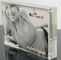 12 inch high light transparent acrylic magnetic photo frame with free shipping