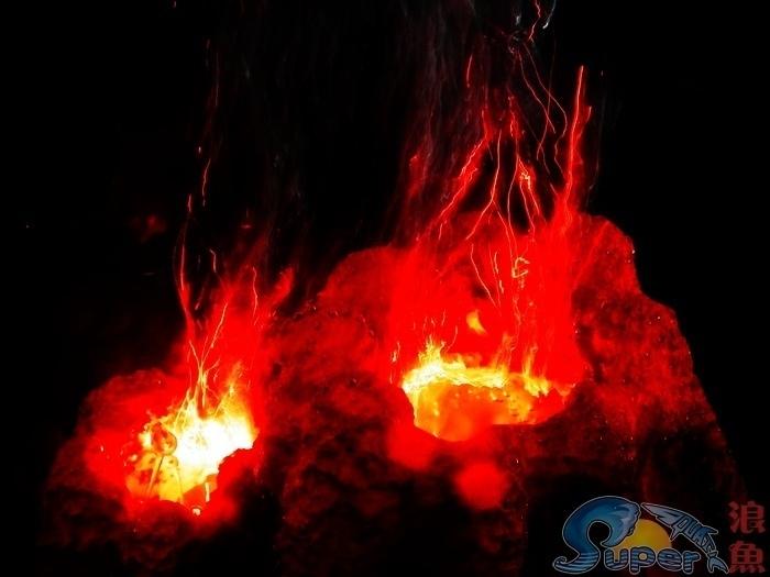 Led air stone aquarium promotion online shopping for for Aquarium volcano decoration