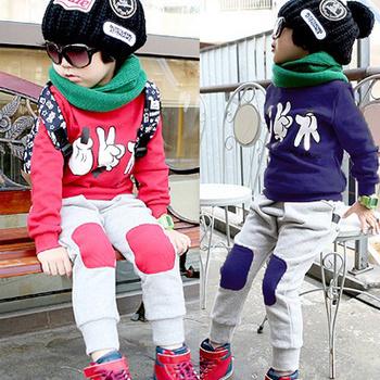 2012 autumn cartoon stone scissors cloth child casual set baby sportswear