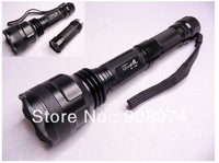 Free Shipping , UltraFire  WF700L (1000 lm)  LED  flashlight