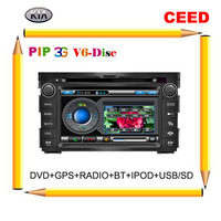 3G Kia Ceed 2010-2011 Car DVD GPS with Radio TV PIP V-6 Disc SWC Bluetooth iPOD USB/SD+Free 4G Map+Free Camera+Free shipping