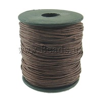 FREE SHIPPING Jewelry Findings Wax Cord, brown color, 1mm, Length:80 Yard, Sold by PC