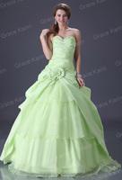 1pcs/lot белый/слоновой кости шифон формальных Королевское свадебное платье свадебное платье cl3184