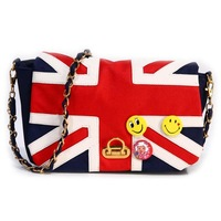 Women Vintage UK flag shoulder bag Messenger bag handbags Totebags girl # L09171