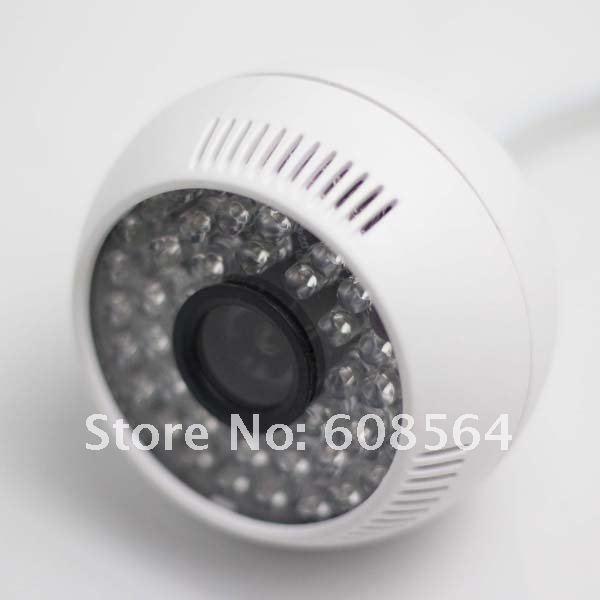 Free Shipping Sharp 420TVL Color CCD Audio CCTV Dome Security Camera E07(China (Mainland))