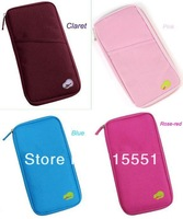 DHL Free Shipping 400pcs/lot Poly Travelus-handy Multi-function Card Holder (Green,Navy ,Pink ,Rose-red,Blue,Claret )