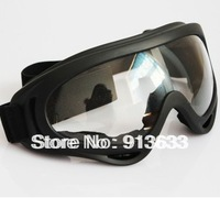 In stock  for The motorcycle goggles windproof glasses windproof mirror colored optional clear lense