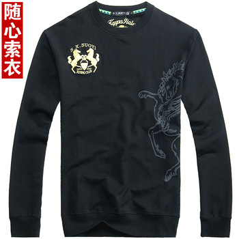 2012 autumn classic double real madrid armband embroidered long-sleeve autumn and winter sweatshirt 5396