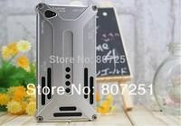 X-Guard Series Arachnophobia Durable Luxury Case Aluminum Metal Case for iPhone 4 4S 4G Wholesale 50pcs/lot DHL Free shipping