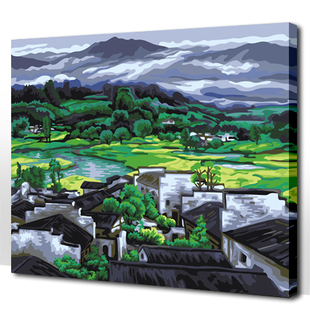 China Watercolor Painting Style DIY Painting by Numbers Kit Discount Sale Available in Size 16*20''/20*24''(China (Mainland))