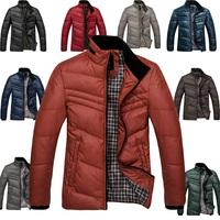 2012 autumn and winter men's clothing male slim men's short design down coat Men commercial plus size thick outerwear