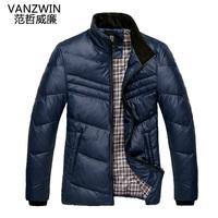 2012 autumn and winter men's clothing short design male slim down coat Men thick outerwear