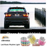 Free shipping 45cmx11cm Led Car Music Rhythm Light Lamp, Led Sound Control Flashing Light Multi color