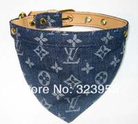 2014 Hot Sale Classic Fashionable Denim Collar Pet Cravat Pet Collar Size Dog VIP