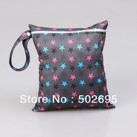 Free Shipping (100 pieces/lot) 100% Polyester waterproof PUL Nappy Wet Bag