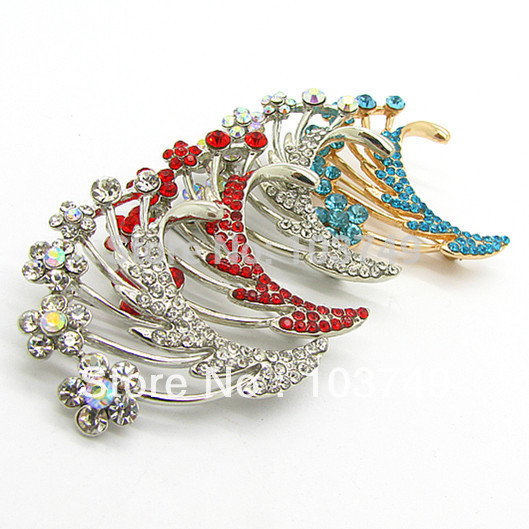 Hot Sale!!! Fashion Brooches Pin Jewelry Supplier 40mm Brppch Gold Plated Wholesale 12pcs One Lot Free Shipping HB170(China (Mainland))
