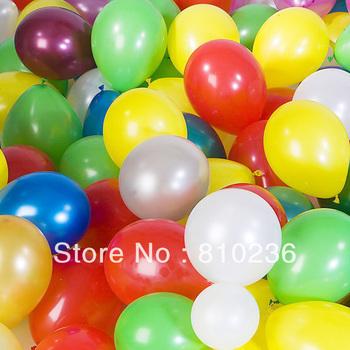 Christmas Day Thick balloon pearl balloon wedding balloon multicolor 100 pcs/lot Free Shipping