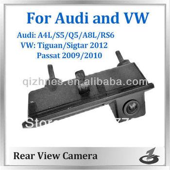 Superior handle camera reverse backup parking rear view car camera for Audi A4 S5 Q5 A8L and VW Passat Tiguan 2012 Sagitar