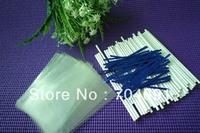 "100 X 4"" Cake Pop Paper Sticks Lollipop Sticks 4x6"" Cello Bags Metallic Twist Ties"