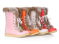 2013 Free shipping new spring fashion snow boots for womenSweet candy color thermal cotton-padded shoes boots scrub winter boots