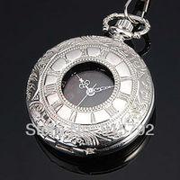 Brand New Luxury Men Black Dial Roman Number Japan Quartz Movement Pocket Watch Wholesale Price Nice Gift H024