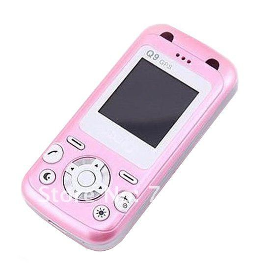 ibaby Q9 GPS Tracker Mobile Phone in Pink with SOS GPS Postion Tracking, Kids GPS mobile phone, kids cell phone, Free Shipping(China (Mainland))