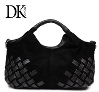 New Arrival!!! special offer [GENUINE LEATHER] frosted Woven dermal hand tide bag shoulder lady bag ,free shipping