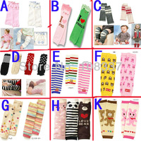12 Pairs/lot Cotton Baby Leg Warmer Kid Socks Infant Kneepad Children Leg Warmers Free Shipping