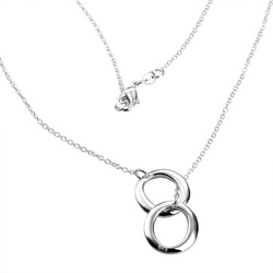 WN193 New Hotsale 925 Silver Charm Necklace for women / Wholesale Supplier Fashion Necklace /2012 New Style(China (Mainland))