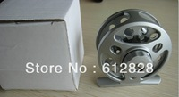Factory direct wholesale 6pcs fishing tackle, bearing die casting fly fishing reel cnc # 2/3 60mm