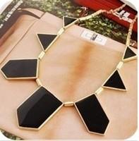 Hot &Black geometrical irregular pendant necklace+ Free Shipping#B12