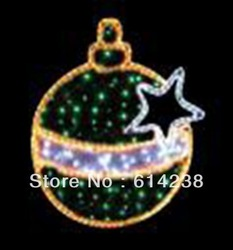 Christmas ball with star LED Motif Lights manufacturer Decoration Light for Christmas Party Wedding with CE ROHS High quality(China (Mainland))