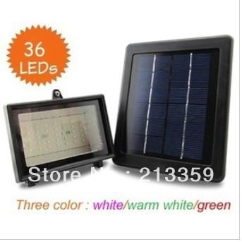 Free Shipping for Solar garden light 100% solar powered, 36 leds solar lawn floodlight, solar spotlight Hot!