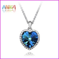 2014 Heart Of  The Ocean Women High Quality Titanic 100 Years Necklace Jewelry  Made With Swarovski Elements #90029