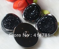 Free Shipping Black starry sky coat dust coat crystal button large fashion buckle 30mm 100pcs/lot