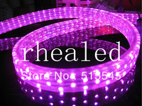 LED Christmas Flexible Rope Strip Light AC220v-240V Flat 5 Wires Pink Color 144leds/m Waterproof Indoor Or Outdoor Use
