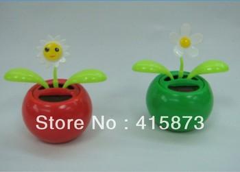 Free shipping (10pcs/lot) solar flip flap solar powered dancing flower solar novelty toys (small size)