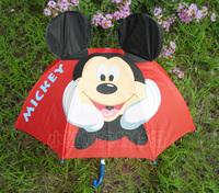 KIDS UMBRELLAS Safety Protection 3D Cartoon Mickey Umbrellas for Child Manual Open Rain/Sun Proof  + Free Shipping