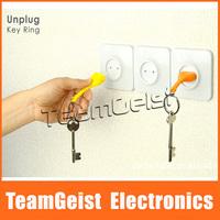 4pcs/lot Original Unplug Home Promotion Fashion Keychians Key Rings Sockets Holder Anti-lost KEYs partner FEDEX Free Shipping